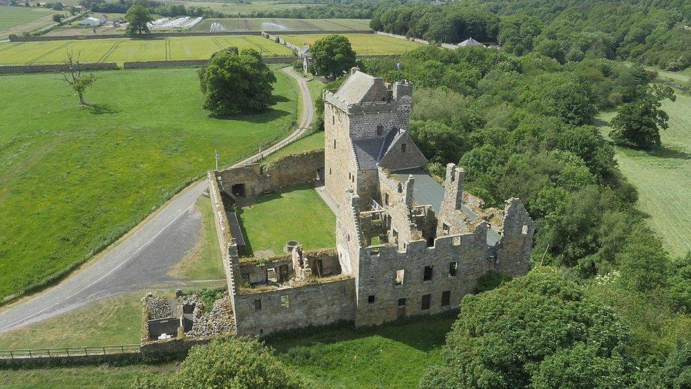 Aerial Photo of Balgonie Castle
