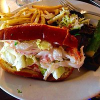 My lobster roll with truffle oil-fried fries were to die for!