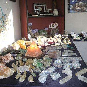 Inside the Shop with Rough Crystals