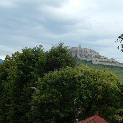 pohľad z kapituly na spišský hrad