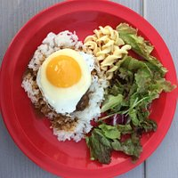 CB's restaurant: R-Cafe.  ¥1100 loco moco.  Good but not enough.