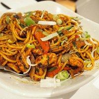 Chili chicken noodles