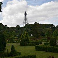 Aalborgtårnet set fra Almen Kirkegården