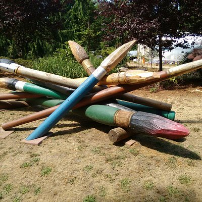 Exhibits in the sculpture park