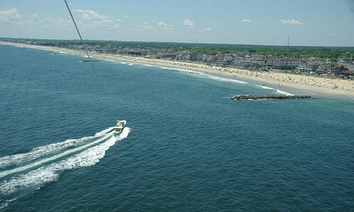 Belmar Parasail from the air