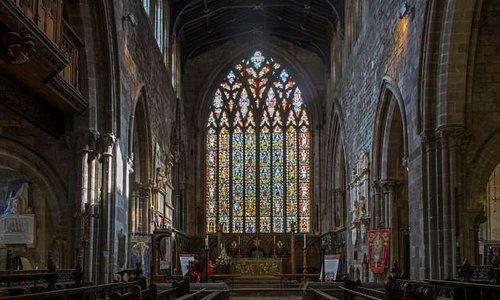 The Jesse window at St Mary's Church Shrewsbury