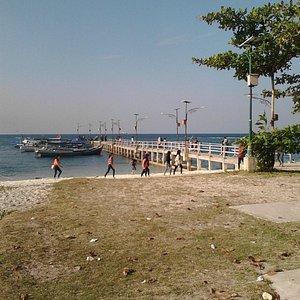 Dermaga Pantai Tanjung Kelayang