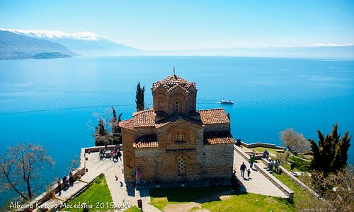 The view in Ohrid lake
