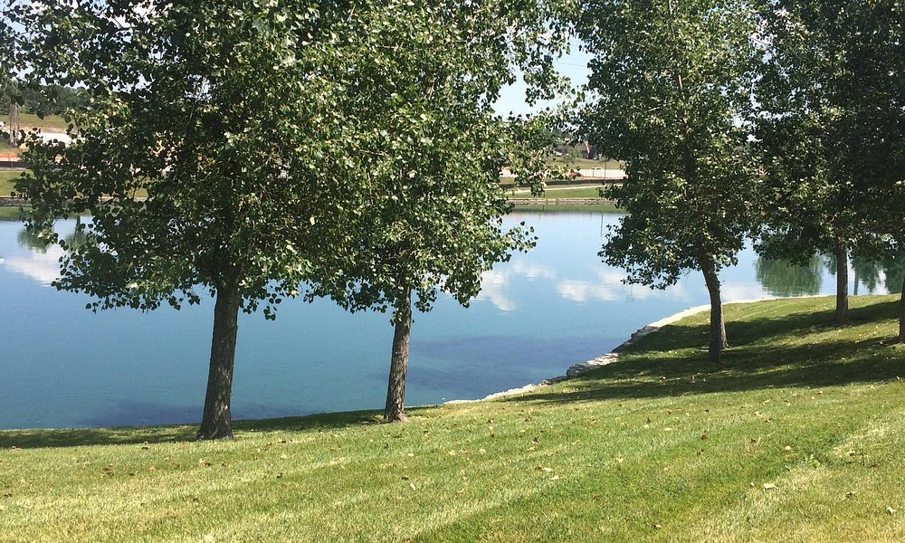 Lake in front of Vail Resorts