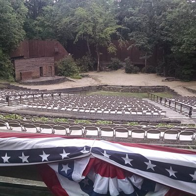The outdoor theater is in a great setting