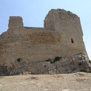 One of the surviving towers of the Agira castle