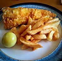 Cod and Chips (half portion of chips)