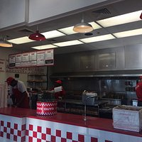 Fast burgers! Overpriced but good. Fries are great and way too many for 1 poor soul!!!!' But tha