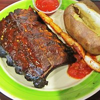 Rib and Shrimp Combo