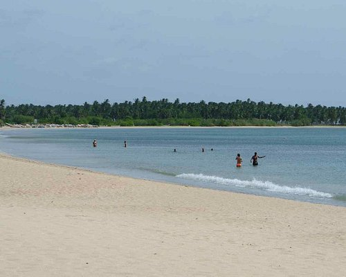 milieu de la plage, tranquille...