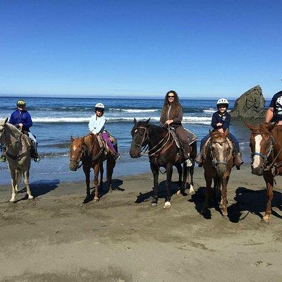 Ross Ranch Horseback on the beach