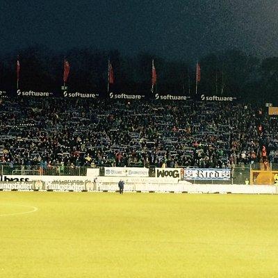 Böllenfalltor Stadium, Darmstadt, just before a soccer match
