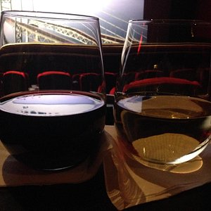 Wine in the adult only theatre