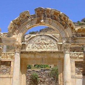 Temple of Hadrian in Ephesus Ruins