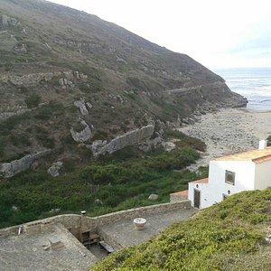 Praia da Samarra vista de cima - ao final do dia