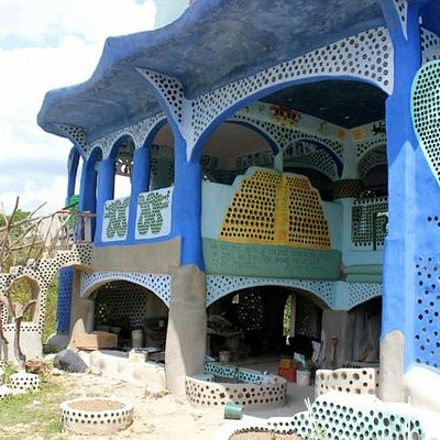 Belize's largest recycling project, visit this house made from rubbish