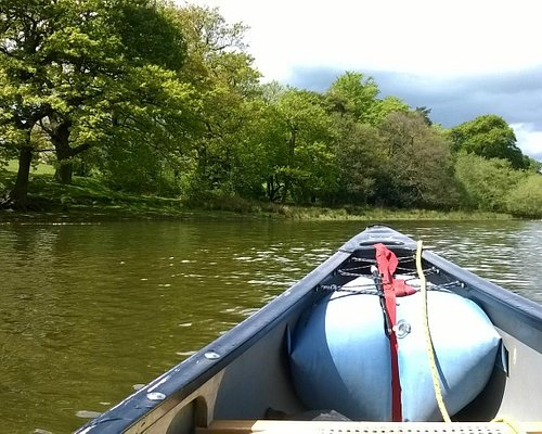 Paddling up the western bank towards the nature reserve of Rudyard Lake