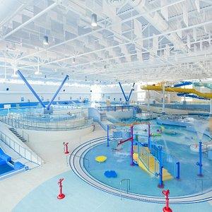 Aquatic Area—waterpark, FlowRider®, hot tubs, wave pool, 50 meter pool, River Run, waterslides