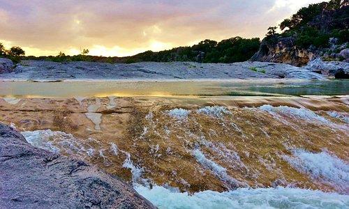 Sunset at Pederrnales Falls