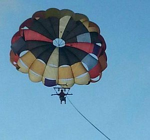 Like a Bird, wings outstretched, Parasailing