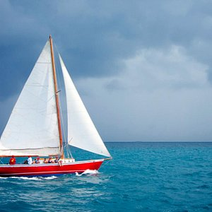 Sailing on a stormy day