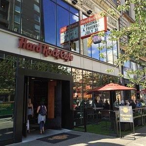 Outside Seattle's Hard Rock Cafe