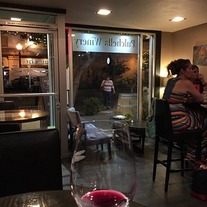 Great addition to old town Newhall.   Fabulous wine and great service.  No food but you can orde
