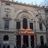 Vue du théâtre de la rue