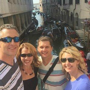 enjoying the private tour through the city
