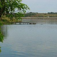 Vista da lateral direita da Barragem - Lavras/Perdões