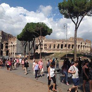View of the Roman Colisium