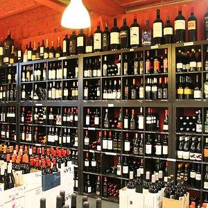Sección de vinos