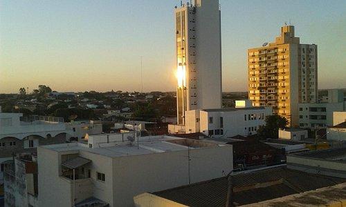 Por do Sol em Jales. Vista da janela lateral do apto 121