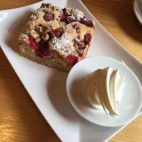 Raspberry-Walnut-Cake at Café de la Gare, Kiliney
