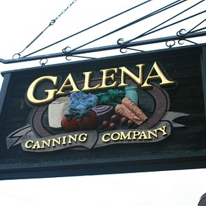Exterior sign at the Galena Canning Company