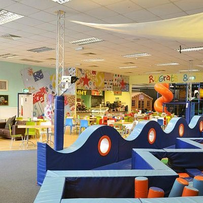 View of the baby area and Cafe