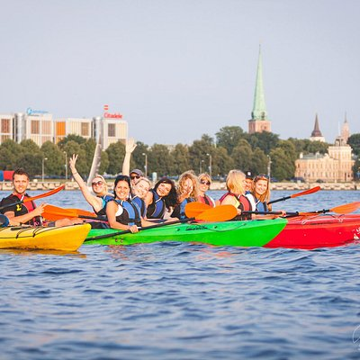 Kayaking in river Daugava | Rigas laivas | Kayaking in Riga
