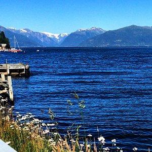 View of Sognefjorden from Vikøyri