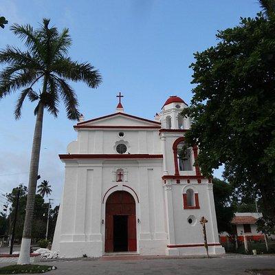 vista de la ermita del rosario, antigua, veracruz