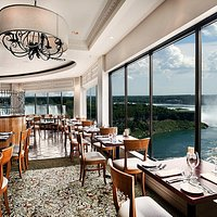 The Rainbow Room by Massimo Capra overlooking the Falls