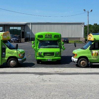 Our fleet of three minibuses.