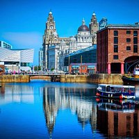 Albert Dock. View on the Royal Liver Building. #adamtasimages