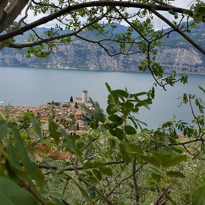 Blick auf Malcesine beim Abstieg vom Monte Baldo