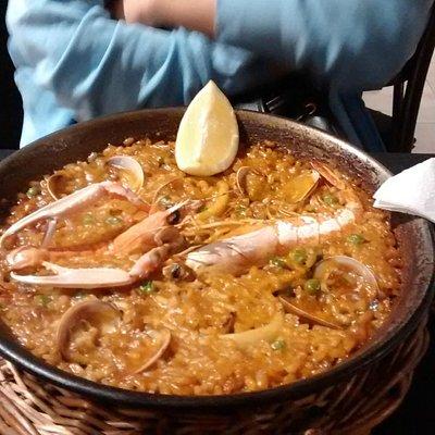Paella fruit de mers