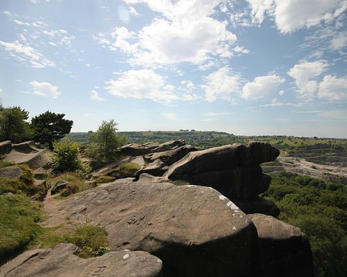 View from Black Rocks, Heights of Abraham in the centre